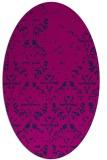 rug #1096214 | oval pink traditional rug