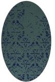 rug #1096218 | oval blue damask rug