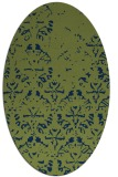 rug #1096222 | oval green traditional rug