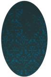 rug #1096246 | oval blue damask rug