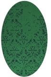 rug #1096249 | oval faded rug