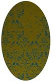rug #1096258 | oval green traditional rug