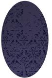 rug #1096266 | oval blue-violet damask rug