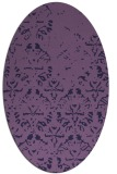 rug #1096278 | oval purple rug