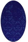 rug #1096282   oval blue-violet damask rug
