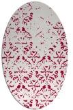 rug #1096298 | oval red rug