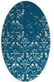 rug #1096301 | oval damask rug