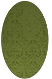 rug #1096306   oval green damask rug
