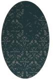 rug #1096310 | oval green traditional rug