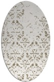 rug #1096338 | oval white faded rug