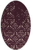 rug #1096342 | oval pink rug