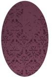rug #1096353 | oval faded rug