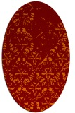 rug #1096382 | oval orange traditional rug