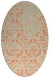 rug #1096390 | oval beige damask rug