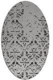 rug #1096394   oval orange damask rug