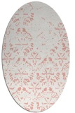 rug #1096410 | oval white faded rug