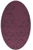 rug #1096414 | oval purple faded rug