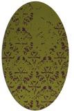 rug #1096418 | oval purple faded rug