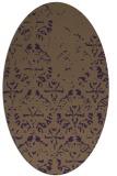 rug #1096422 | oval purple damask rug