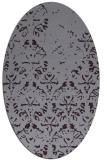 rug #1096426   oval purple traditional rug