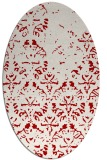 rug #1096430 | oval red traditional rug