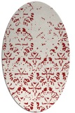 rug #1096438   oval red traditional rug