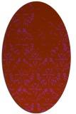 rug #1096445   oval faded rug