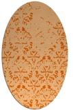 rug #1096450 | oval red-orange damask rug