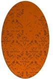 rug #1096454   oval red-orange faded rug