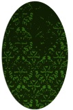 rug #1096462 | oval light-green rug