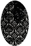 rug #1096466 | oval white damask rug