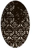 rug #1096478 | oval brown damask rug