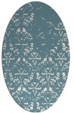 rug #1096486 | oval white faded rug