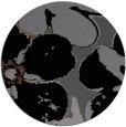 rug #109649 | round black natural rug