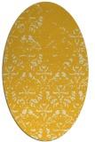 rug #1096494 | oval yellow faded rug