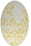 rug #1096502 | oval yellow faded rug