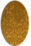 rug #1096506 | oval light-orange damask rug