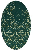 rug #1096510 | oval yellow faded rug
