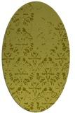 rug #1096514 | oval light-green rug