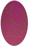 rug #1096522 | oval light-green faded rug