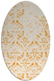 rug #1096542 | oval white faded rug