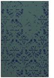 rug #1096586    blue-green damask rug
