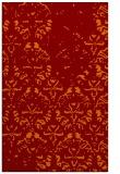 rug #1096750 |  orange damask rug