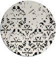 rug #1096918 | round white faded rug