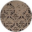 rug #1096926 | round beige damask rug