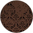 rug #1096930 | round brown damask rug