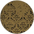 rug #1096942 | round mid-brown damask rug