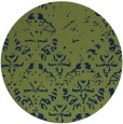rug #1096958 | round green damask rug