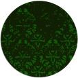 rug #1096974 | round green damask rug