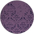 rug #1097014 | round purple traditional rug